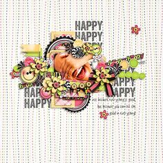 Color Me Happy layout by Stella Marie using Color Me Happy kit