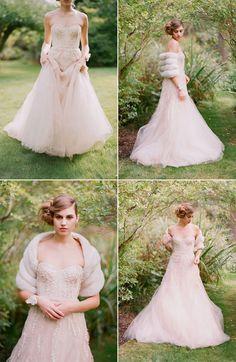beautiful blush wedding gown