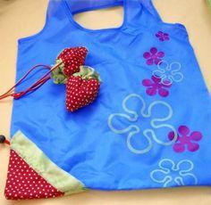 Strawberry ECO storage Compressible Handbag