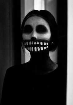 Creepy Halloween makeup www.mybigdaycompany.com/