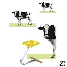Sgabello | Stool MEZZADRO Collage by Leonardo Sonnoli Un sedile da trattore che diventa un'icona del design moderno.  A seat for tractor that turns into an icon of modern design.