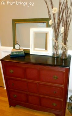 Annie Sloan Primer Red Dresser