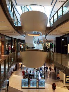 Seating pods in mall @ Westfield Miranda, Australia