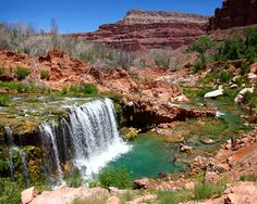 Rock Falls, Havasupai Waterfalls