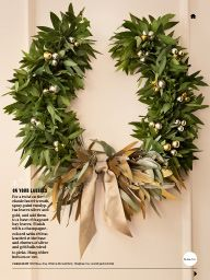 """I saw this in """"A Touch of Shimmer"""" in Martha Stewart Living December 2013."""