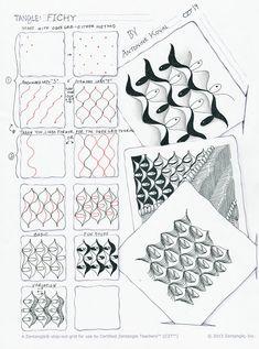 Antonine Tangles: Fichy pattern by Antonine Koval, CZT