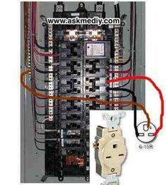 If you're looking for instructions on how to install a 4 wire 220 outlet see this video Home Electrical Wiring, Electrical Projects, Electrical Installation, Electrical Outlets, Electrical Engineering, Electrical Diagram, Solar Panel Kits, Solar Panels, Breaker Box
