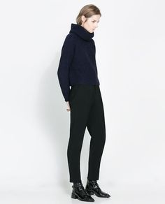 Image 1 of WIDE TURTLE NECK JERSEY from Zara