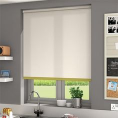 Notions Olivia Roller Blind Patio Blinds, Diy Blinds, Outdoor Blinds, Fabric Blinds, Curtains With Blinds, Blinds For Windows, Privacy Blinds, Blinds Ideas, Bamboo Blinds