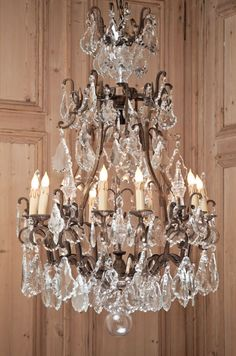 Genoa Crystal Chandelier...Crafted from solid brass then fitted with numerous cut crystal prisms, this elegant chandelier has been crafted with the same techniques and skills as classic chandeliers from the 19th century. Beautifully proportioned, it will provide a wonderful source of light and prism-scattered colors for any room.