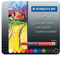 <div>You will love working with these premium-quality watercolor crayons! Use them dry or with w...