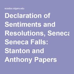 declaration of sentiments analysis essay Seneca falls convention of 1848: definition, summary the declaration of sentiments: summary & analysis of 1848: definition, summary & significance.