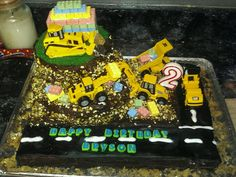 Top of construction cake