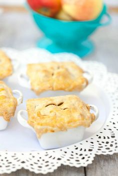 Light & Healthy Individual Deep Dish Apple Pie - Low Calorie, Low Fat - delicious cinnamony apples topped with a crispy pie crust. So easy to put together for dessert
