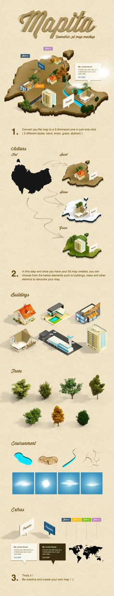 3D Isometric Map Mockup (Psd, Action)  http://www.blugraphic.com/2013/06/27/3d-isometric-map-mockup-psd-action/