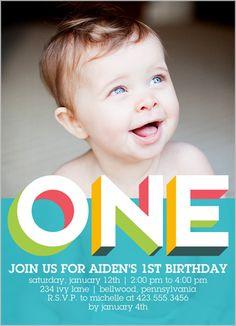 Baby Boy First Birthday Invitations Invites