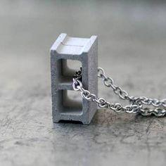 Cement Cinder Block Necklaces  Max Steiner