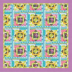 Quiltmaker's Staff Challenge! Quilt by Diane Harris in fabrics from FreeSpirit. #freespiritfabrics #scrapquilts