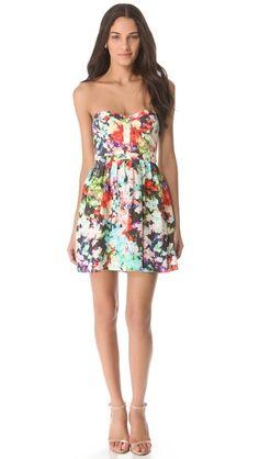 Adorable floral silk dress by Parker.