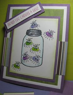 Caught a Bug by Brenda Smalle - Cards and Paper Crafts at Splitcoaststampers