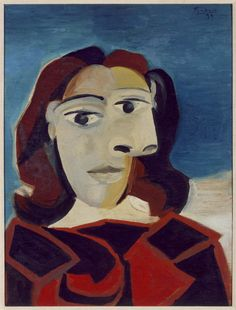 Pablo Picasso - Portrait of Dora Maar, 1939, oil on board, 60 x 45 cm