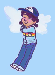 ok i HAD to draw clementine in her warm puffy rainbow before telltale stomps in and makes everything sad forever