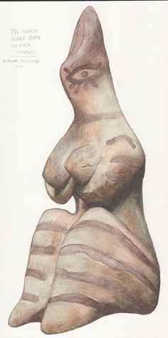 #TelHaraf #FertilityFigure painted by #NikitaCoulombe
