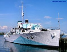 HMCS Sackville in port as a museum.