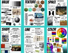 Formal Elements Of Art, Art Elements, Elements Of Design, Elements Of Art Examples, Art Classroom Posters, Classe D'art, Art Basics, Inspiration Art, Art Worksheets