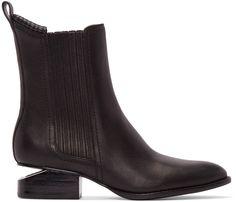 Alexander Wang - Black Notched Heel Anouck Boots