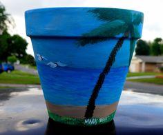 """The Beach 8"""" flower pot"""