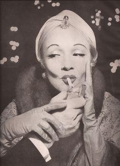 Marlene Dietrich photographed by Richard Avedon, 1955