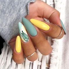 Gorgeous Nails, Pretty Nails, Nagel Bling, Yellow Nails Design, Cherry Nails, Neon Nails, Summer Nails Neon, Rainbow Nails, Pastel Nails