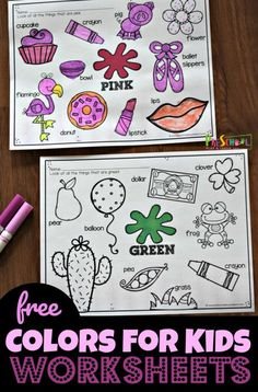 FREE Colors for Kids Worksheets these free printable worksheets are great for toddler, preschool, and kindergarten age kids learning colors learningcolors colorsforkids preschool is part of Kids worksheets preschool - Color Worksheets For Preschool, Free Printable Worksheets, Free Preschool, Preschool Printables, Kindergarten Worksheets, Kids Worksheets, Toddler Preschool, Color Word Activities, Kindergarten Colors