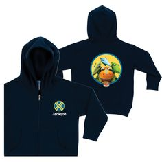 Dinosaur Train Buddy, Tiny, Shiny & Don Navy Zip-up Hoodie