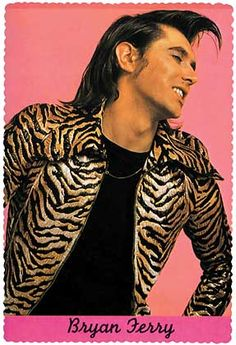 Roxy Music's Bryan Ferry wearing a jacket by Anthony Price for 'Che Guevara' boutique, 1971