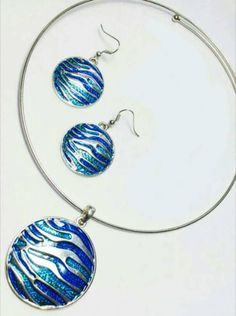 Shopo.in : Buy Aqua Blue Pendant Set online at best price in New Delhi, India