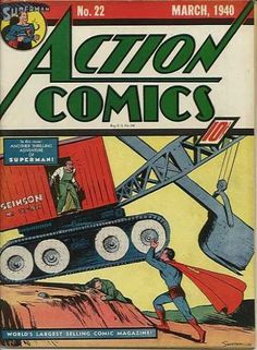 Action Comics 22 - Superman - Crane - Joe Shuster