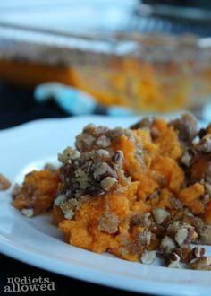 Healthy Sweet Potato Casserole 2- No Diets Allowed