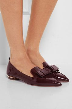Nicholas Kirkwood Burgundy patent-leather loafer @ Net-a-Porter