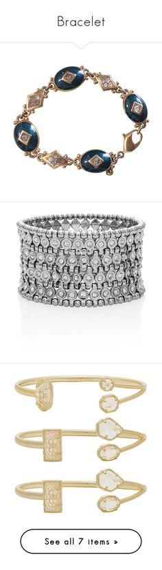 """Bracelet"" by brittaniayana ❤ liked on Polyvore featuring jewelry, bracelets, charm bracelets, green, green bangles, charm bracelet, vintage jewelry, oval charm, chain jewelry and monogram bangle bracelet"