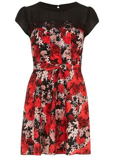 This is me, I need this dress.  (Well not really but I so love it.)  Petite floral lace trim dress