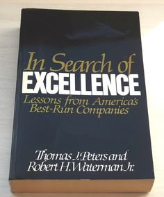 Vintage Paperback In search of Excellence, Lessons from America (1991) - Rare by BunkysVintageCrafts on Etsy