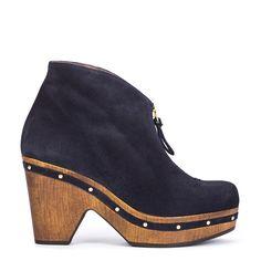 #zapatos #botín #plataforma de la nueva colección #AW de #pedromiralles en color #azul #blue #shoponline