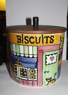 1950/60s Swedish Jie Gantofta by Anita Nylund Biscuit Jar