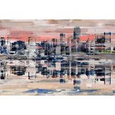 Pink, tan, and blue are painted over the iconic New York City skyline in the Parvez Taj NYC Reflection Painted Canvas Wall Art . This canvas. Canvas Art Prints, Painting Prints, Canvas Wall Art, Painted Canvas, Watercolor Painting, Home Nyc, Cityscape Art, C 18, Framed Wall Art