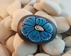 Mandala Stone hand painted by PierreduCoeur on Etsy