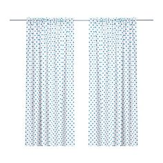 I love polka dots so I have blue polka dot curtains...mine are way cooler than these though. :)