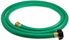 "Swan LOLH5806FM 5/8-Inch by 6-Feet Leader Hose, Green by Swan. $10.98. Utility hose for light duty use. Tire cord reinforced construction. Strong male and female couplings. The Swan Leader hose is problem solver when only 6' hose is needed.  Ideal for replacing a supply hose on your hose reel or to start a soaker hose from a spigot or any hard to reach area.  All from America's #1 hose manufacturer- Colorite.  5/8"" diameter x 6' length. Save 15% Off!"
