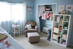 ikea expedit Twin Girl Bedrooms, Twin Girls, Girls Bedroom, Ikea Nursery, Nursery Twins, Chic Nursery, Teal Girls Rooms, Nursery Layout, Nursery Ideas